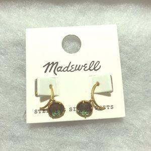 Madewell Green and Gold Earrings